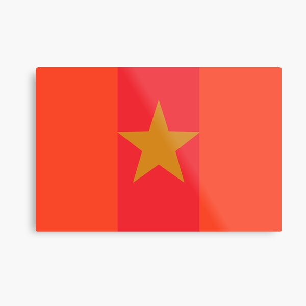 Star Flag In Red&Gold Metal Print