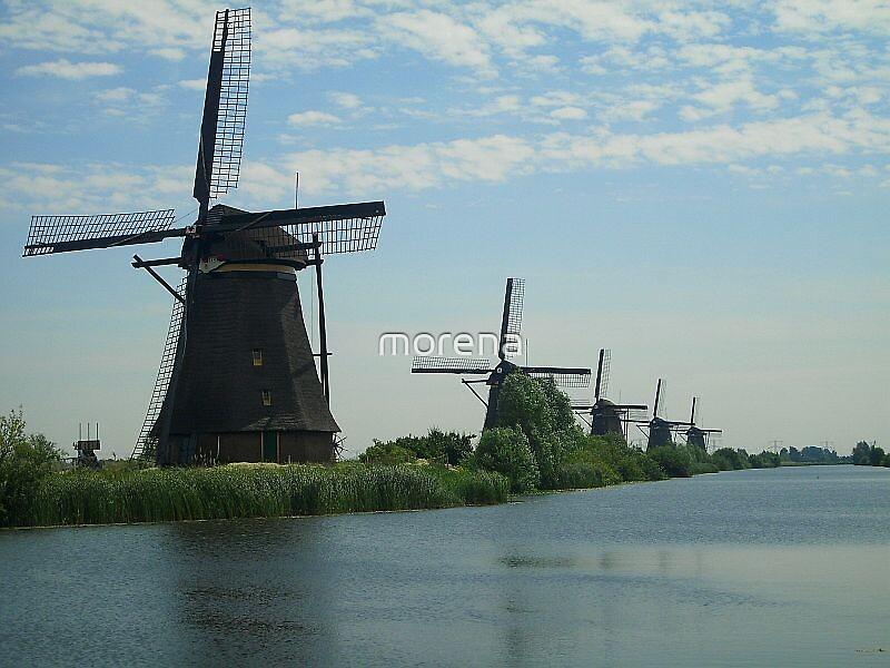 Windmills in Kinderdijk by morena