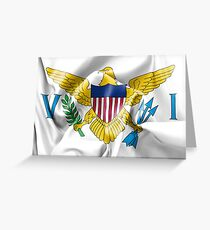 United States Virgin Islands Flag Greeting Card