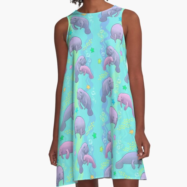 Manatee Jamboree A-Line Dress
