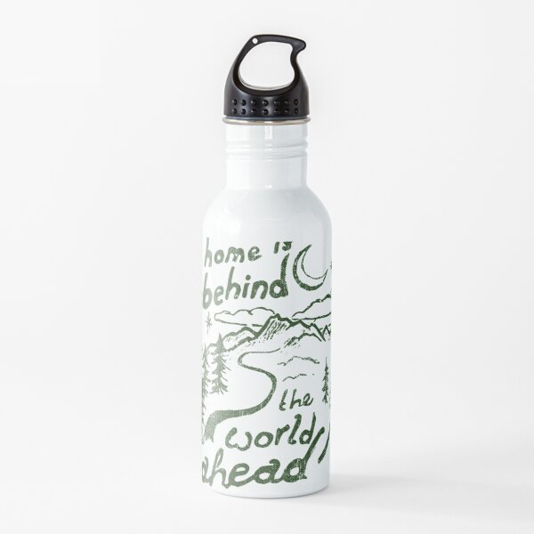 Home is Behind Quote Water Bottle