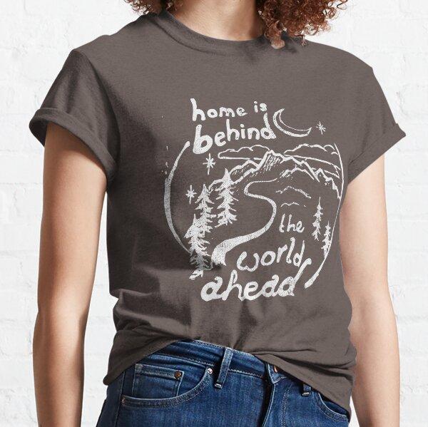 El hogar está detrás de la cita Camiseta clásica