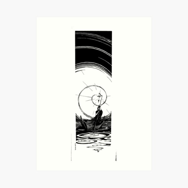 Charon and the River Styx Art Print