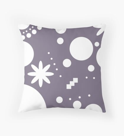 Mpattern Purple/White Throw Pillow