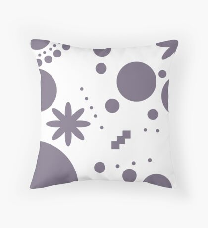 Mpattern White/Purple Throw Pillow