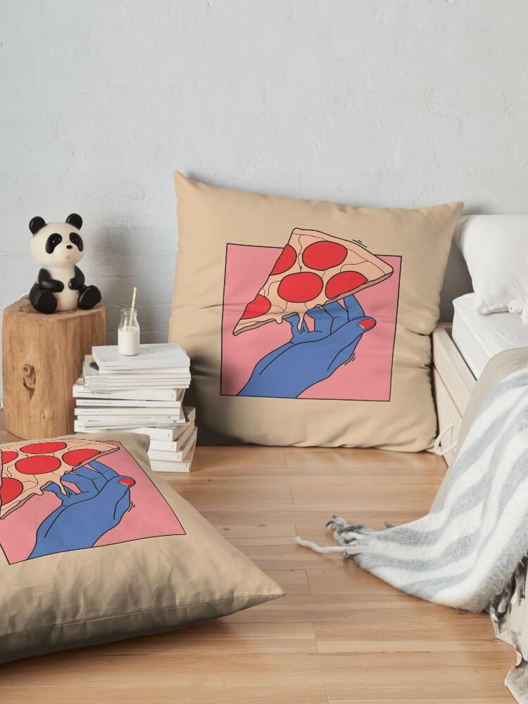 Alternate view of Pizza love Floor Pillow