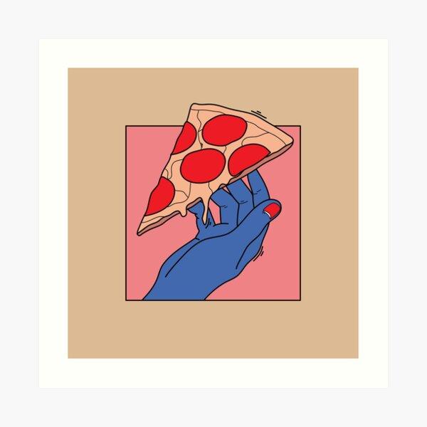 Pizza love Art Print