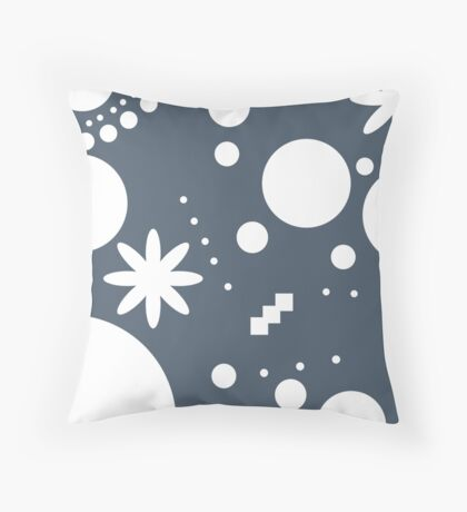 Mpattern Dark blue/White Throw Pillow