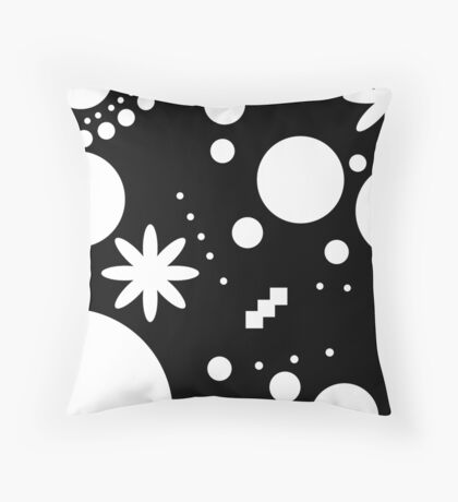 Mpattern Black/White Throw Pillow