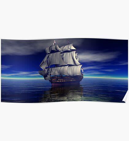HMS Victory Trafalgar Bound Poster
