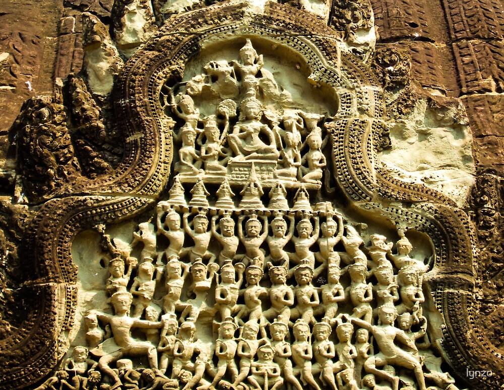 Angkor Bas Relief by lynzo
