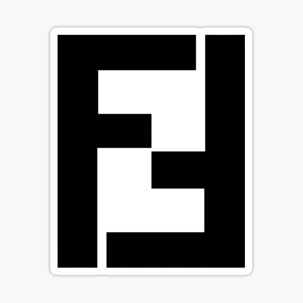 black and white fendi  Sticker