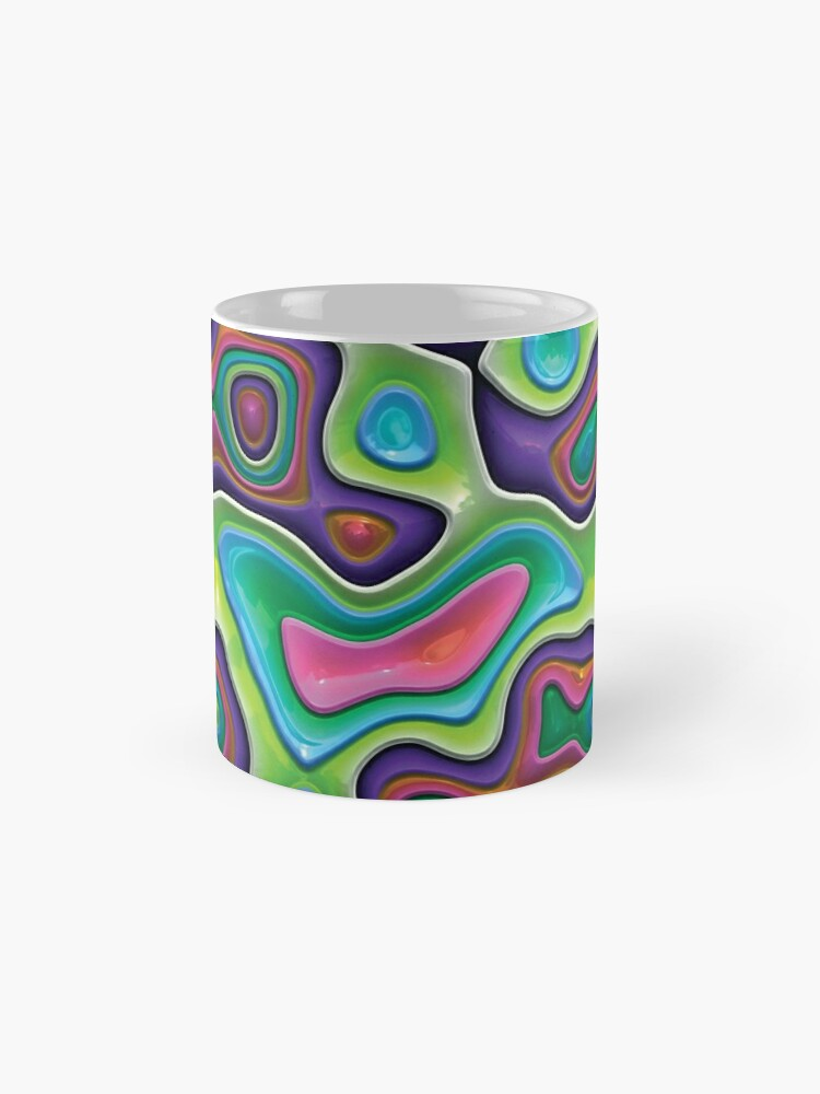 Alternate view of Decorative swirls,3D. Mug