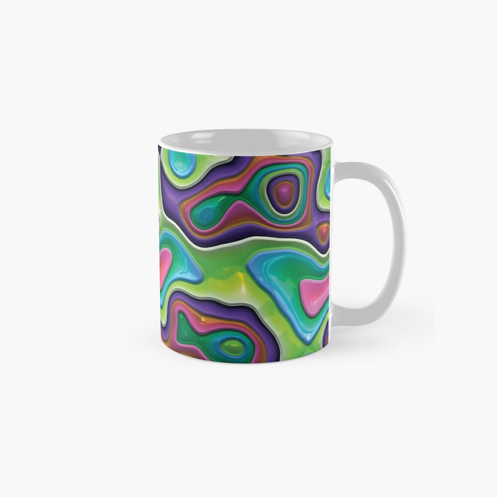 Decorative swirls,3D. Mug