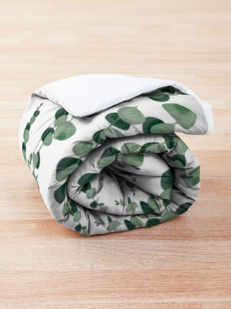Alternate view of Eucalyptus leaves in white Comforter