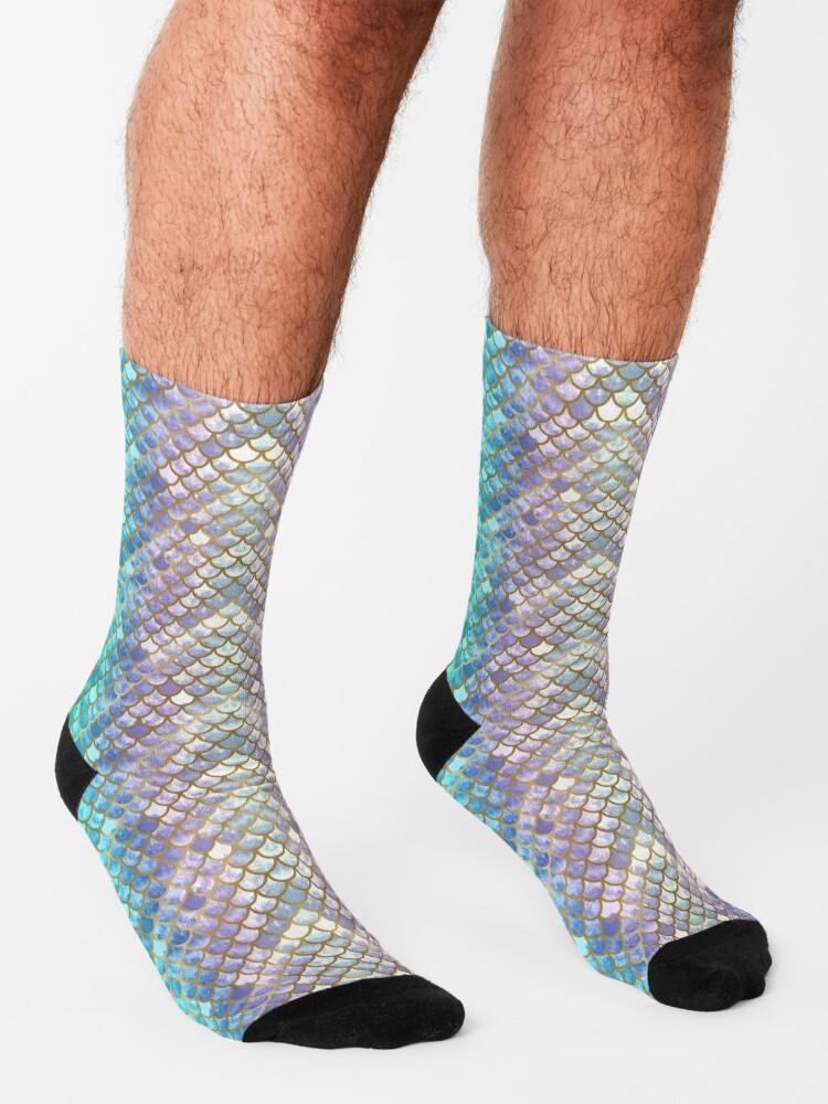 Alternate view of Pretty Mermaid Scales 38 Socks