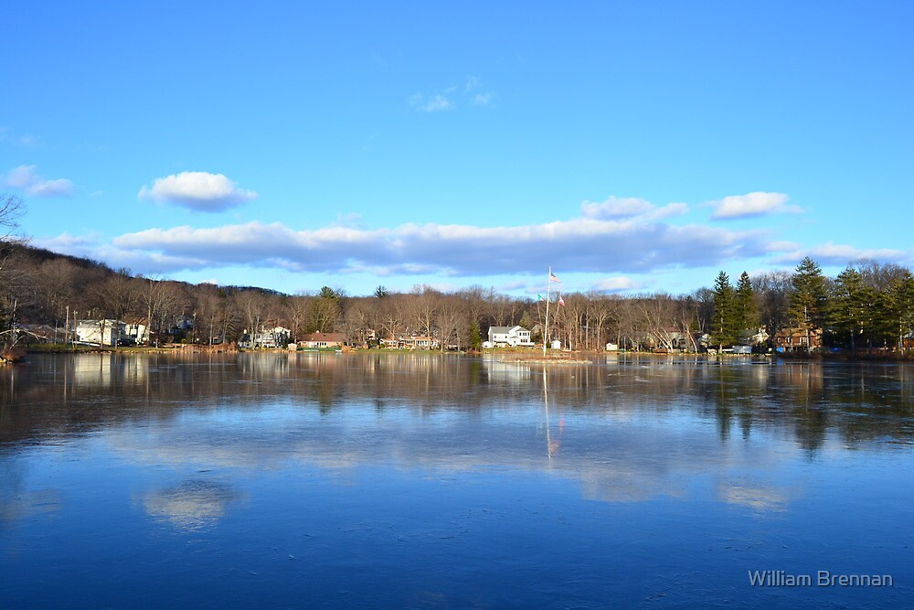 Thin ice reflections. by William Brennan