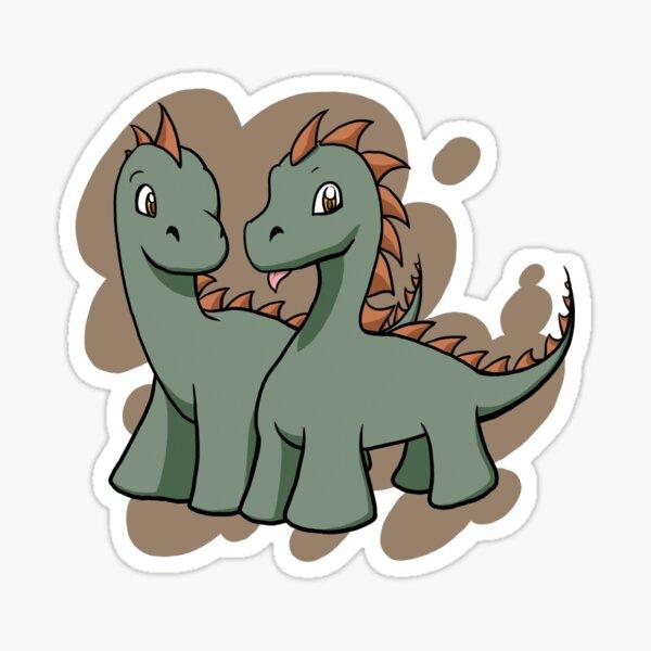 Dinosaur Couple Stickers Redbubble Descubre todo sobre la película caminando entre dinosaurios. redbubble