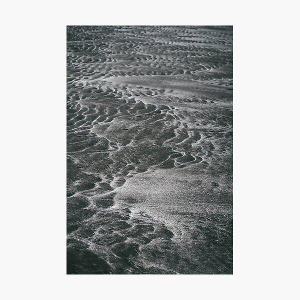 black sand patterns Photographic Print