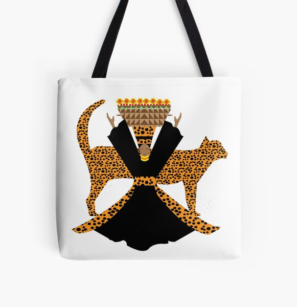 Cheetah Woman All Over Print Tote Bag