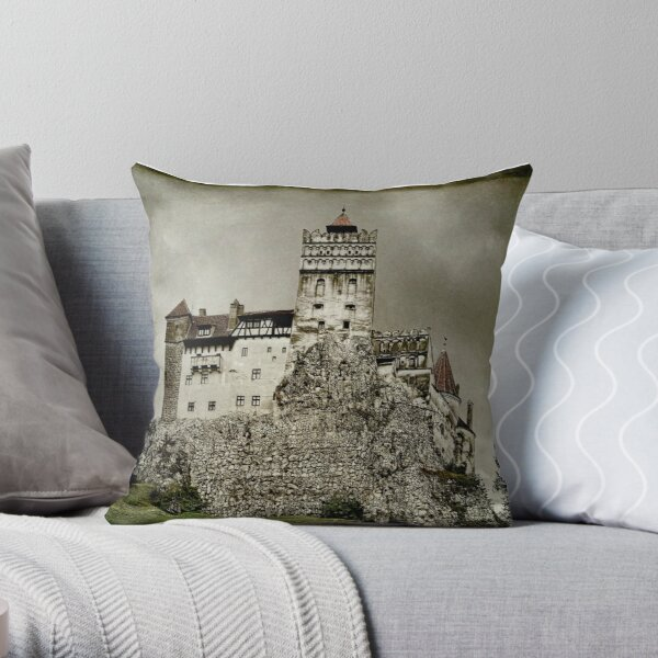 Dracula Was Here  Throw Pillow