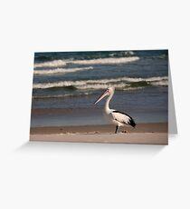 Beach Pelican Greeting Card