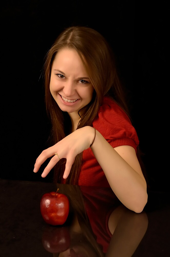 Witchy Woman with Apple by doctorphoto