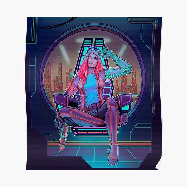 Cyberpunk Girl Póster