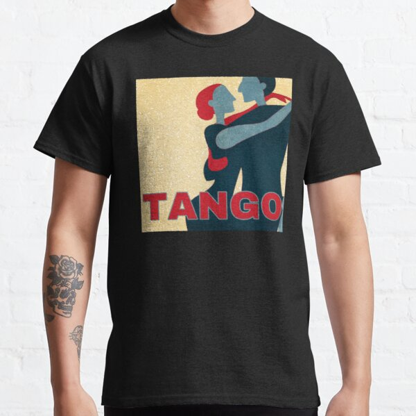 Red and Blue Tango Couple Pop Art Classic T-Shirt