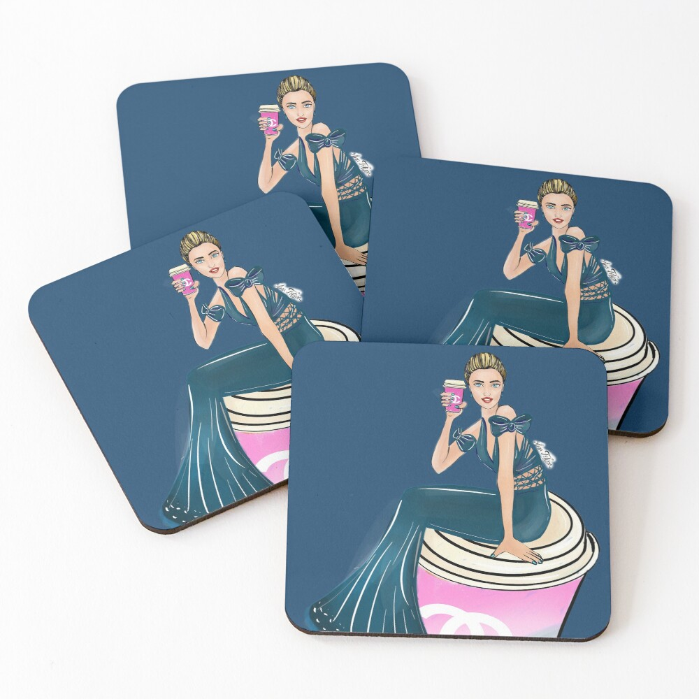 Coffee time, every time, you deserve it Coasters (Set of 4)
