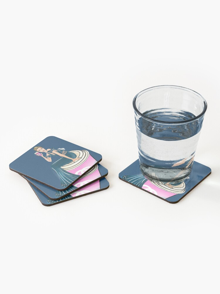 Alternate view of Coffee time, every time, you deserve it Coasters (Set of 4)