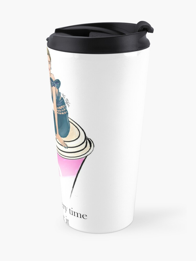 Alternate view of Coffee time, every time, you deserve it Travel Mug