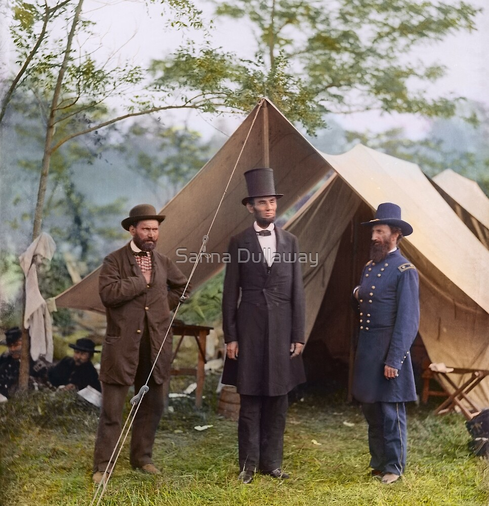 Abraham Lincoln during Civil War by Sanna Dullaway