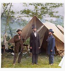 Abraham Lincoln during Civil War Poster