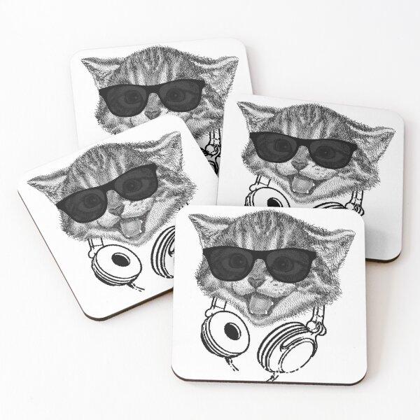 DJ CAT Coasters (Set of 4)