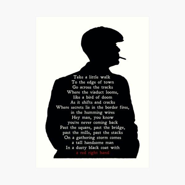 Peaky Lyrics Art Print