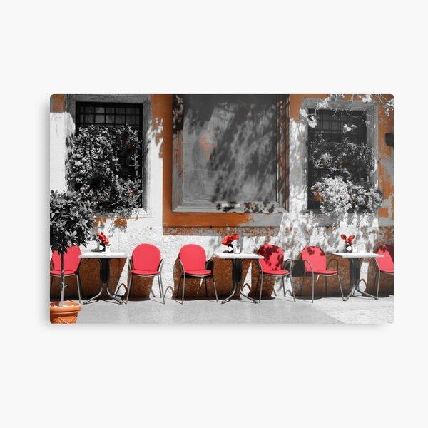 Red Cafe Metal Print