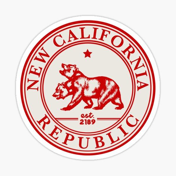 New California Republic Crest | Fallout Logo | Red Print Sticker