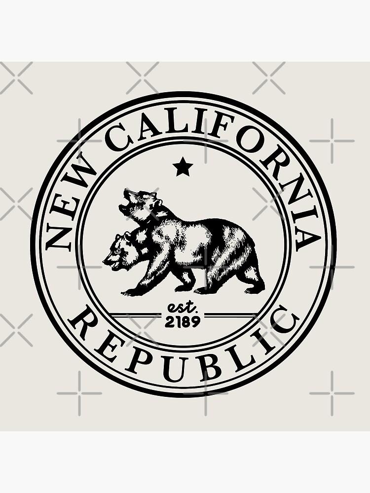 New California Republic Crest   Fallout Logo   Black Print by surik-