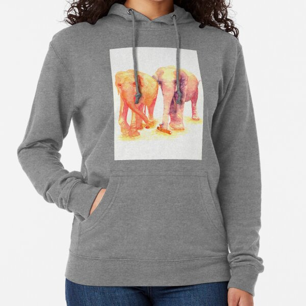 A couple of elephants Lightweight Hoodie
