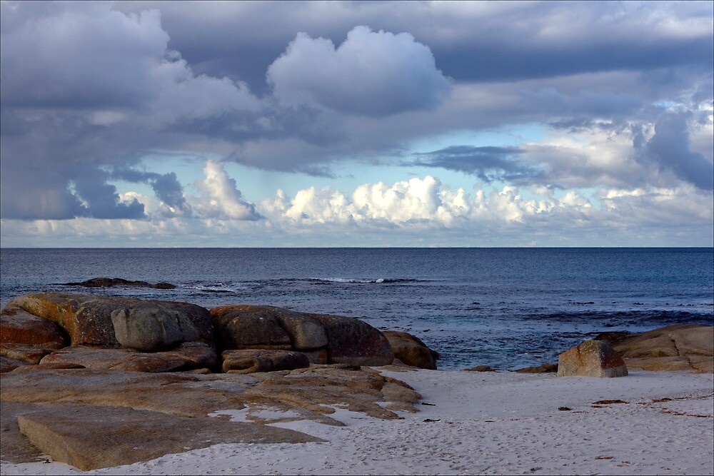 Winter foreboding, Bay of Fires, Tasmania by pfleur