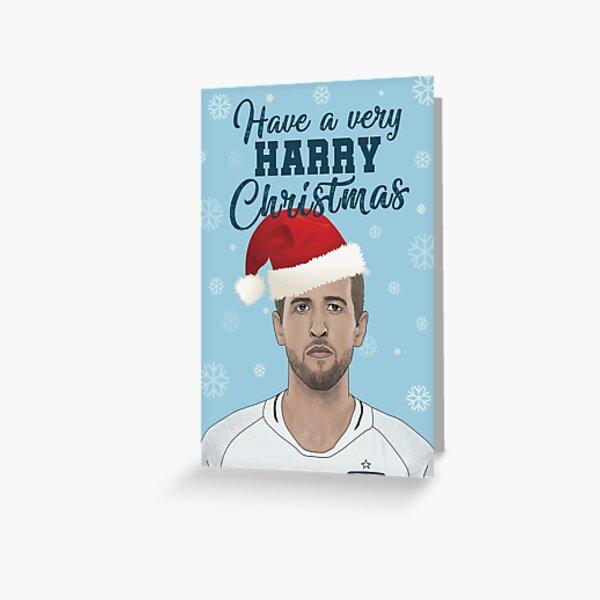 Harry Kane Christmas Card Greeting Card