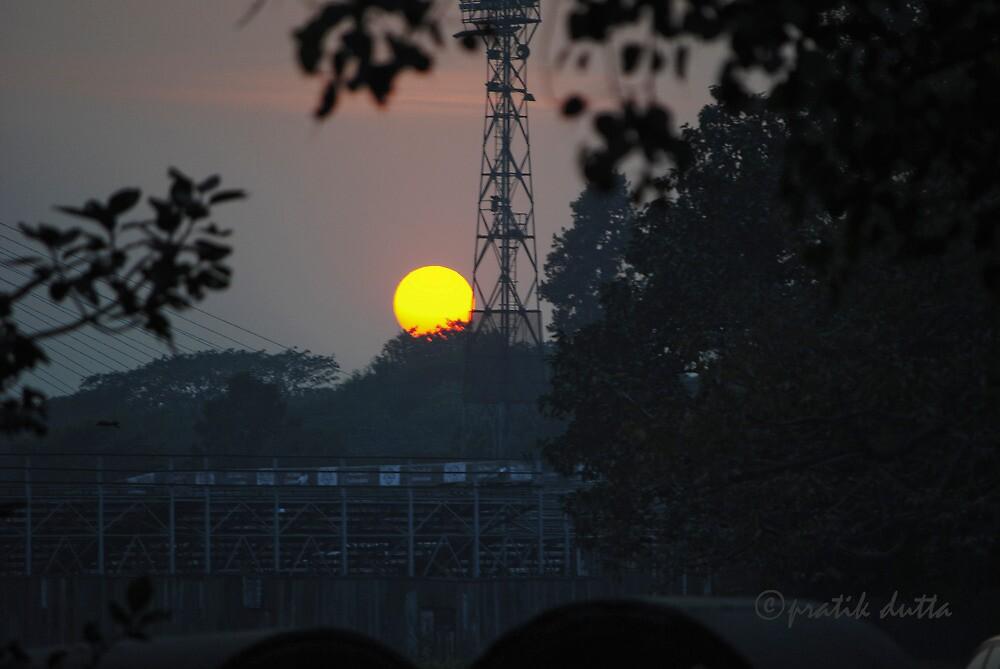 sunset by pratikdutta
