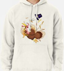 Funny Turkey escape Thanksgiving Character Pullover Hoodie