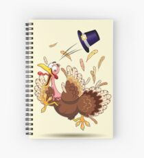 Funny Turkey escape Thanksgiving Character Spiral Notebook