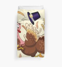 Funny Turkey escape Thanksgiving Character Duvet Cover