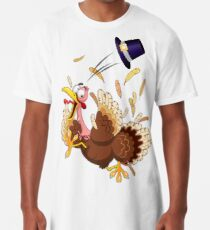 Funny Turkey escape Thanksgiving Character Long T-Shirt