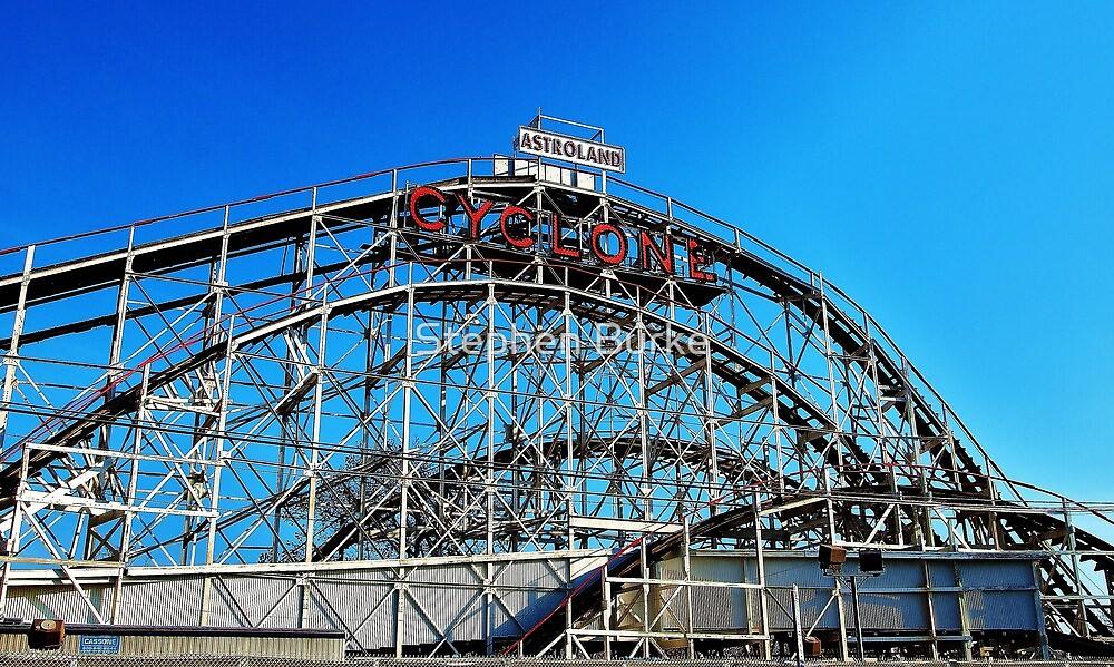 Cyclone Rollercoaster by Stephen Burke