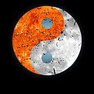 Yin Yang Sun Moon Solar Eclipse von mjacobp