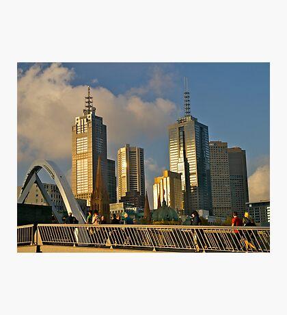 Sunset, Melbourne, Victoria, Australia.  Photographic Print